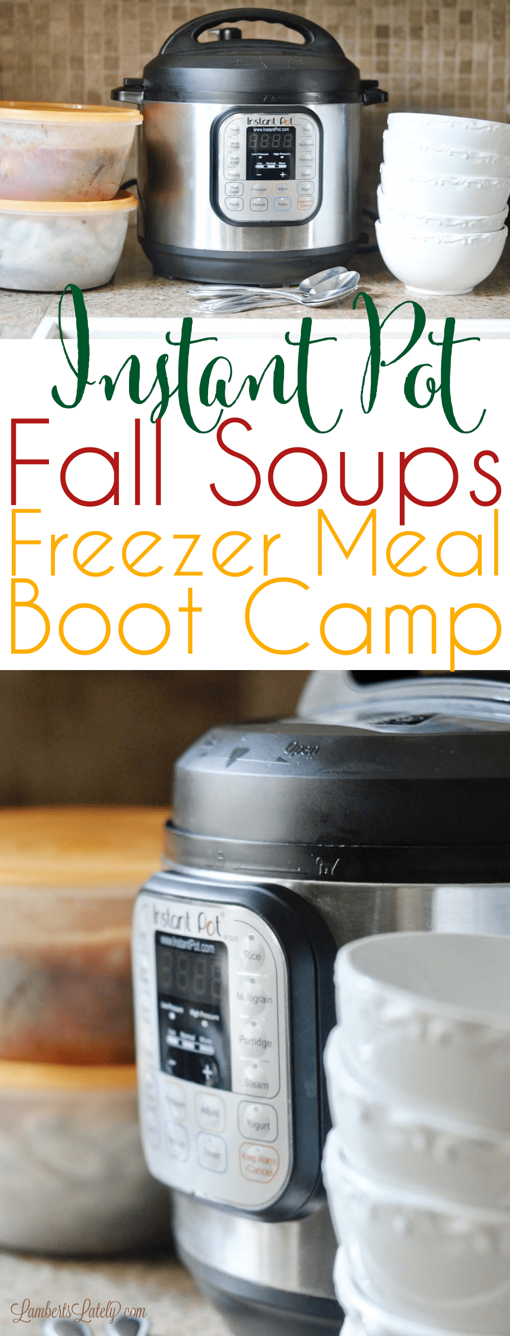 The newest Instant Pot Freezer Meal Boot Camp is all about fall soup recipes! Check out this selection of cheap easy monthly recipes that has chilis, soups, and stews. Carrot Butternut Squash Soup || Firefighter Chili || Sausage & White Bean Stew || French Onion Chicken Soup || Italian Wedding Soup
