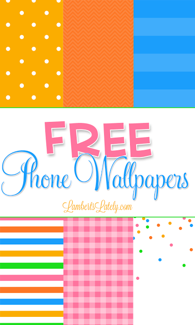 Love this colorful collection of patterned iPhone 5, 6, and 6 Plus wallpapers! Free downloads!